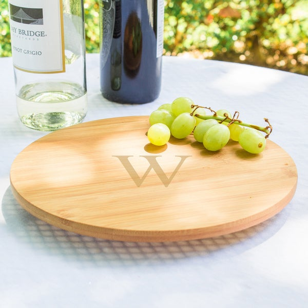 Small Personalized Bamboo 9.84-inch Lazy Susan