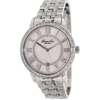 Kenneth Cole Women's KC4981 Silvertone Stainless Steel Quartz Watch with Pink Dial