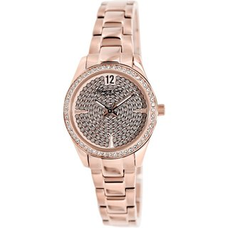Kenneth Cole Women's KC0005 Rose-Goldtone Stainless Steel Quartz Watch with Rose-Goldtone Dial