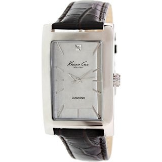 Kenneth Cole Women's KC1984 Brown Leather Quartz Watch with Silvertone Dial