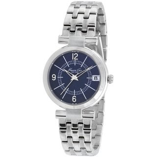 Kenneth Cole Women's Modern Core KC4868 Silvertone Stainless Steel Quartz Watch with Blue Dial