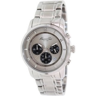 Kenneth Cole Men's Newness KC9292 Silvertone Stainless Steel Quartz Watch with Grey Dial