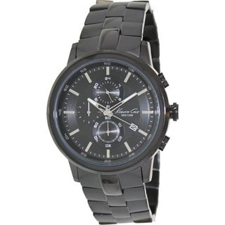 Kenneth Cole Men's KC9226 Black Stainless Steel Quartz Watch with Black Dial