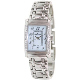 Anne Klein Women's 10-9125MPSV Silvertone Stainless Steel Quartz Watch with Mother-Of-Pearl Dial