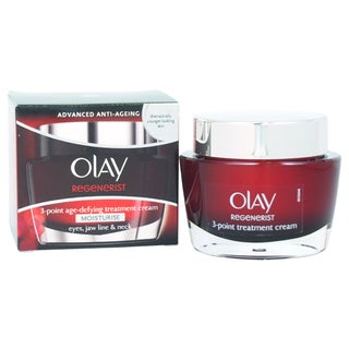 Olay Regenerist 3 Point Age-Defying Treatment Cream Women's 1.7-ounce Moisturizer