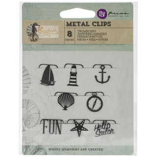 Seashore Metal Paper Clips 8/Pkg