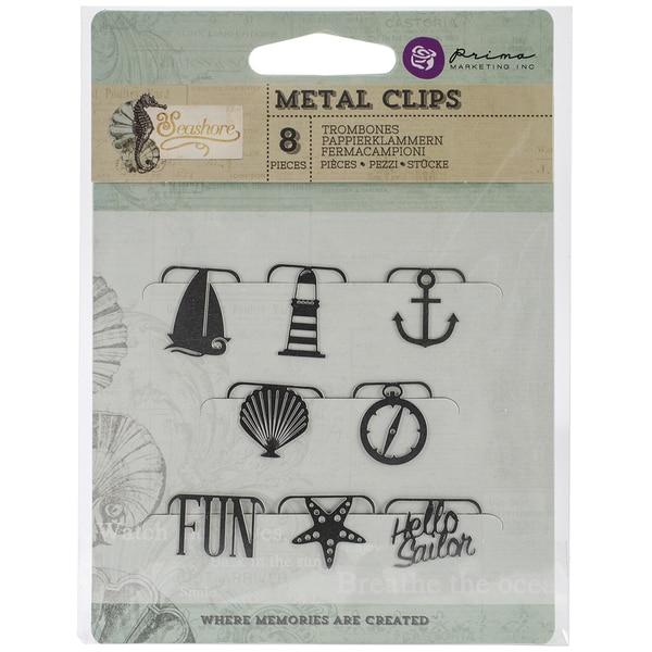 Seashore Metal Paper Clips 8/Pkg