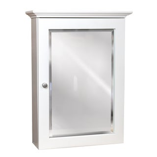 Small Linen White Wall-mount Medicine Cabinet
