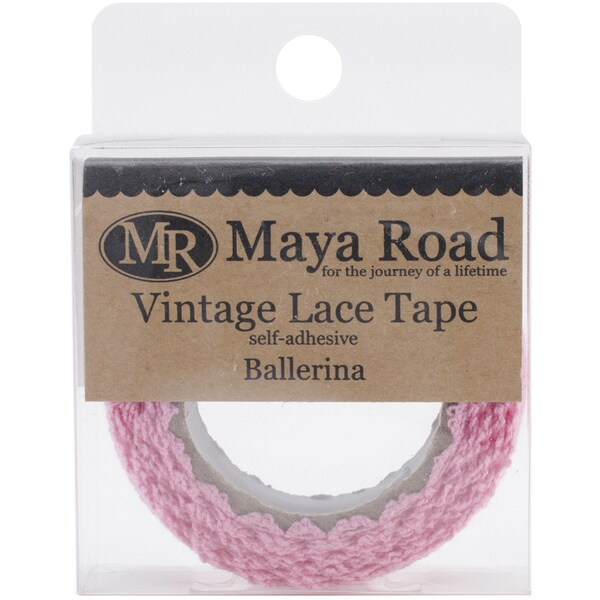 Maya Road Vintage Fabric Lace Tape .75inX6.5'-Ballerina