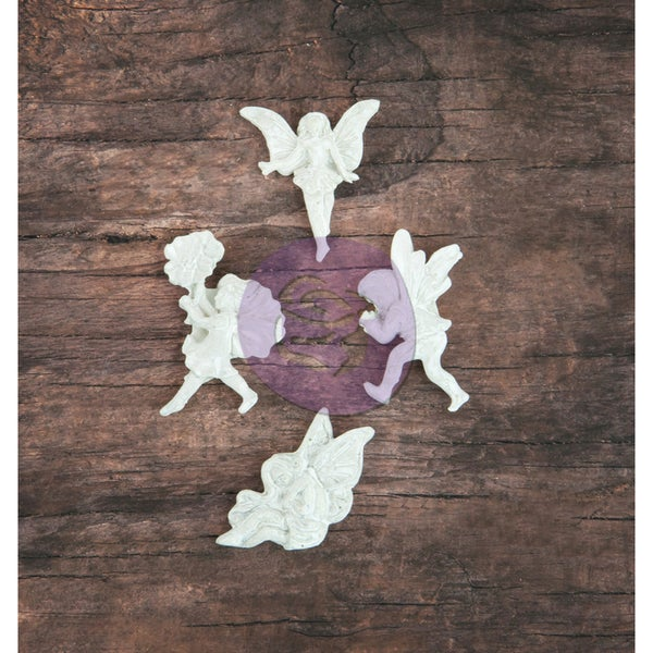 Resin Icon Embellishments-White Fairies 12/Pkg