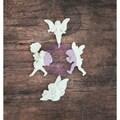 Resin Icon Embellishments-White Fairies 12/Pkg