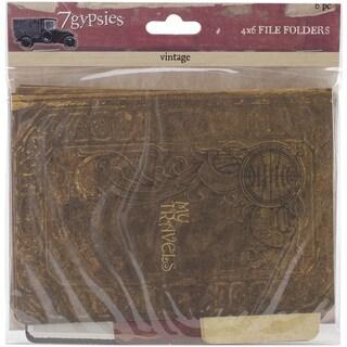 7 Gypsies Serengeti Vintage Folders 4inX6in 6/Pkg-Printed On Both Sides