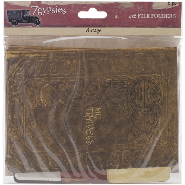 Serengeti Vintage Folders 4inX6in 6/Pkg-Printed On Both Sides