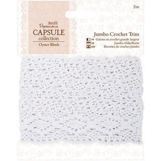 Papermania Oyster Blush Jumbo Crochet Trim-1m