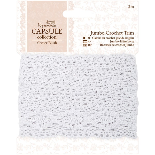 Papermania Oyster Blush Jumbo Crochet Trim-1m