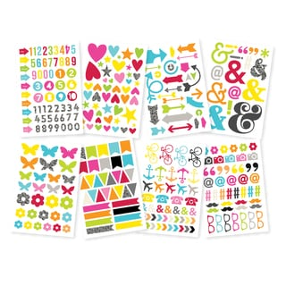 DIY Stickers 4inX6in Sheets 8/Pkg-Icons