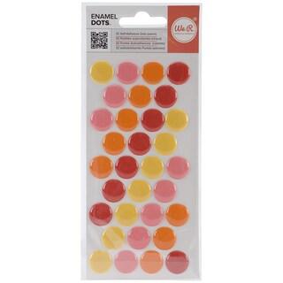 Enamel Dots & Shapes-Warm Dots, 32/Pkg