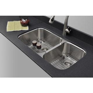 Wells Sinkware 18-gauge 60/40 Double Bowl Undermount Kitchen Sink