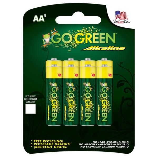 Go Green Alkaline AAA Battery (8 Pack)