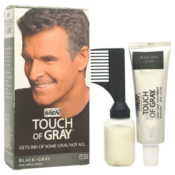 JUST Men's Touch of Gray Hair Treatment T-55 Black-GrayMen's 1 Application Hair Color