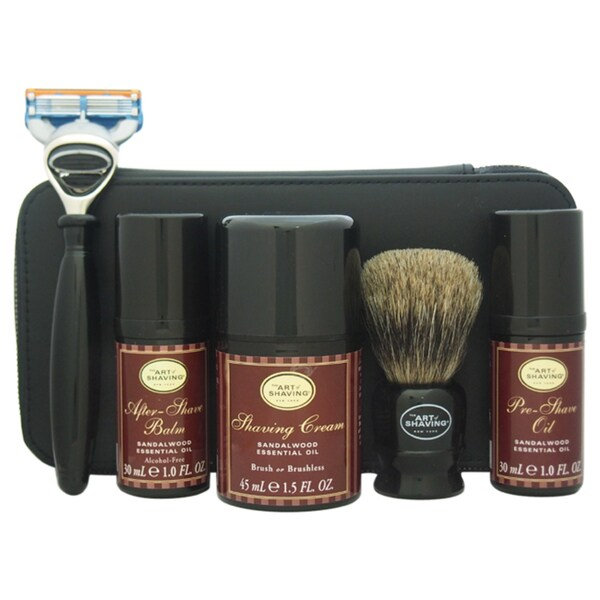 The Art of Shaving Sandalwood Men's 7-piece Travel Kit