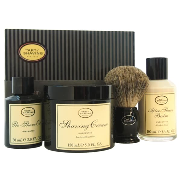 The Art of Shaving The 4 Elements of The Perfect Shave Unscented Men's 4-piece Kit 13278273
