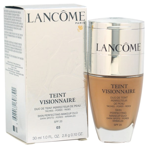 Lancome Teint Visionnaire # 03 Beige Diaphane Skin Perfecting Makeup Duo Foundation