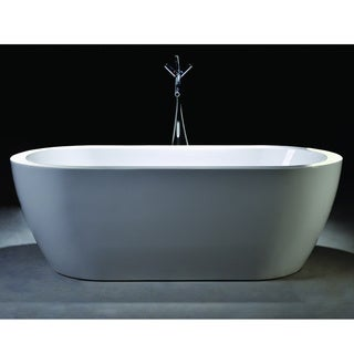 Vanity Art Freestanding 68-inch Double Ended Style White Acrylic Bathtub