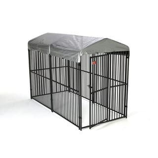 Lucky Dog European Style Dog Kennel with Gable Cover and Frame