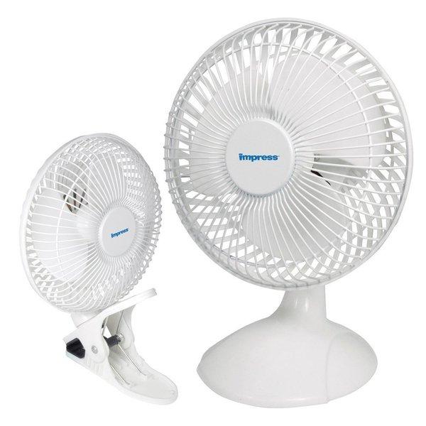 Impress IM-706DP 6-inch Portable Dual Purpose Clip-On Desk Fan