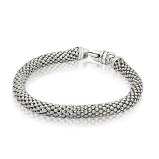 Gioelli Michelle Lee Sterling Silver Popcorn Mesh Bracelet