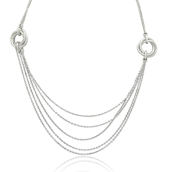 Gioelli Sterling Silver Love Knot Chain Necklace