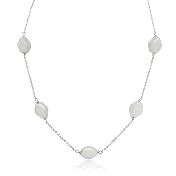 Gioelli Sterling Silver Pebble Link Chain Necklace