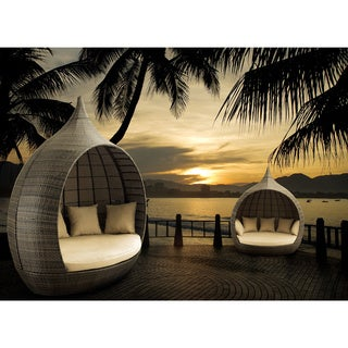 Martinique Espresso Beach Daybed