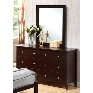 Dark Espresso Solid Pine Six-drawer Dresser