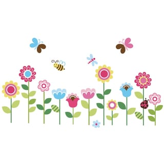 Lovely Garden Peel & Stick Kids Room/ Nursery Wall Decal for Boys & Girls