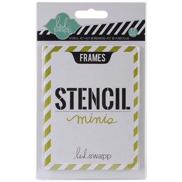 Heidi Swapp 3inX4in Mini Stencil Kit-Frames