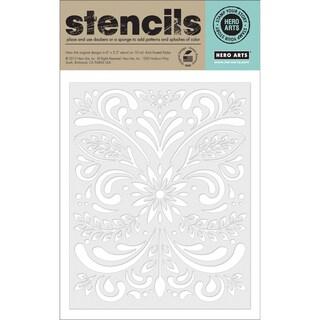 Hero Arts Stencils 6.25inX5.25in-Leaf & Flourish