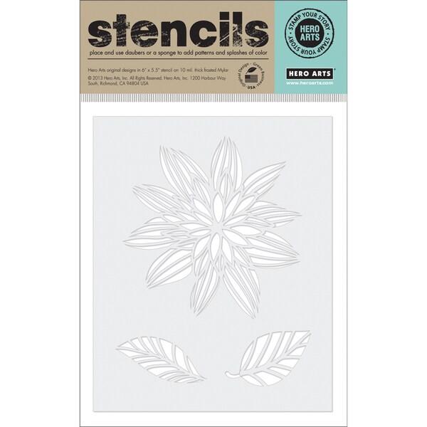 Hero Arts Stencils 6.25inX5.25in-Night Flower