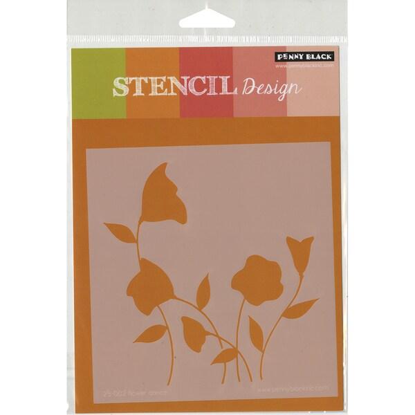 Penny Black Stencils 3.5inX7.25in-Flower Dance