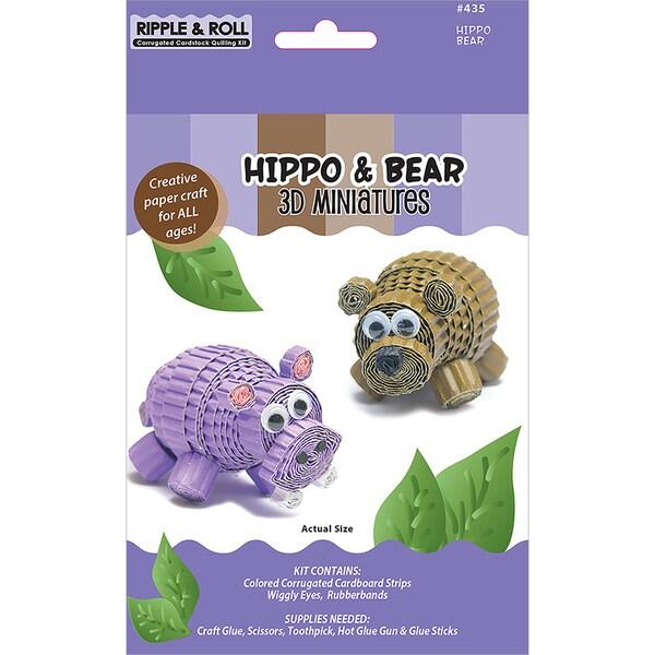 Quilling Kit-Hippo & Bear