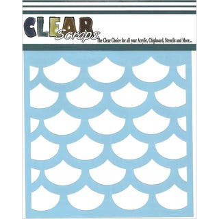Clear Scraps Stencils 6inX6in-Fish Scales