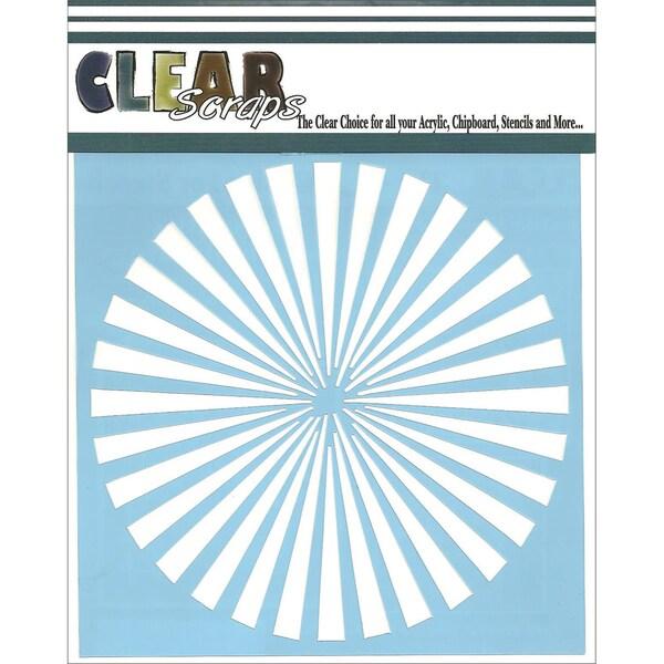 Clear Scraps Stencils 6inX6in-Spiral