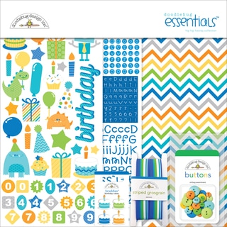 Hip Hip Hooray Essentials Page Kit 12inX12in-Cardstock, Stickers & Embellishments