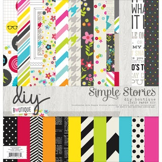 Simple Stories Collection Kit 12inX12in-DIY Boutique