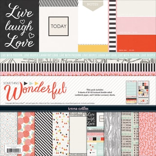 Teresa Collins Collection Pack 12inX12in-Something Wonderful