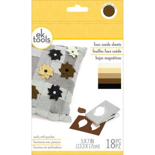 Faux Suede Sheets 18/Pkg-Neutrals, 5inX7in