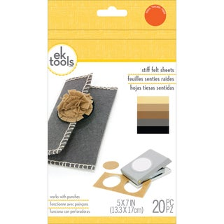 Felt Sheets 20/Pkg-Neutrals, 5inX7in