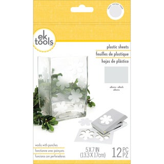 Plastic Sheets 12/Pkg-Frosted, 5inX7in