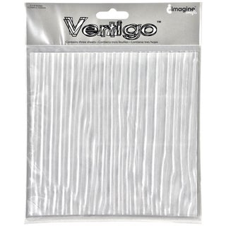 Vertigo Film Transluscent Patterned Sheets 6inX6in 3/Pkg-Breeze
